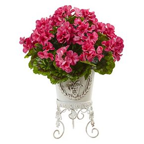 nearly natural Artificial Geranium Arrangement