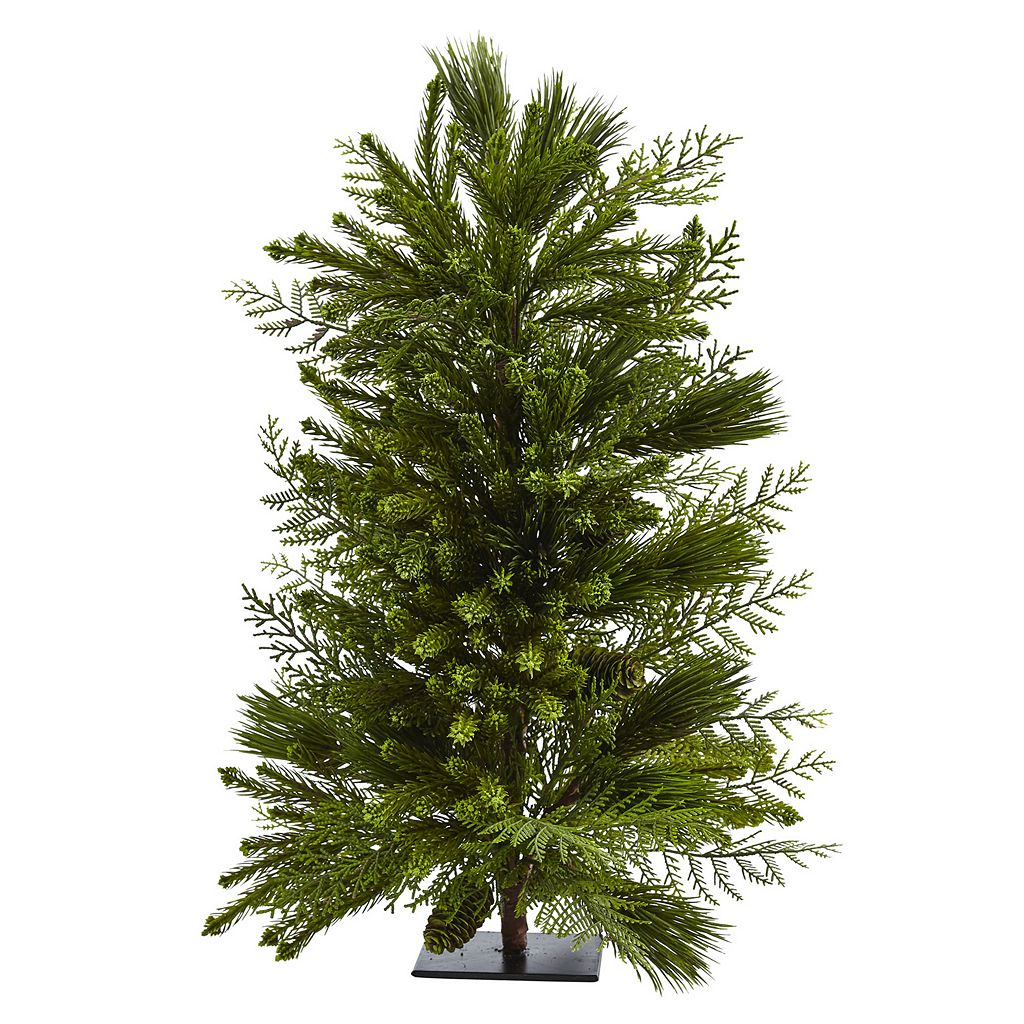 nearly natural 26-in. Artificial Mixed Pine Tree