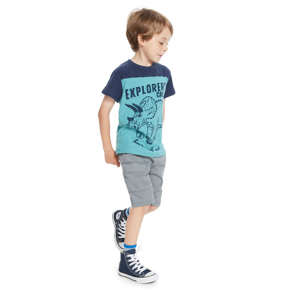 Boys 4-10 Jumping Beans® Colorblock Slubbed Graphic Tee