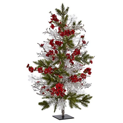 nearly natural Artificial Plum Blossom Christmas Tree