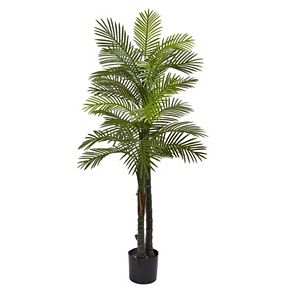 nearly natural 5.5-ft. Artificial Double Robellini Palm Tree