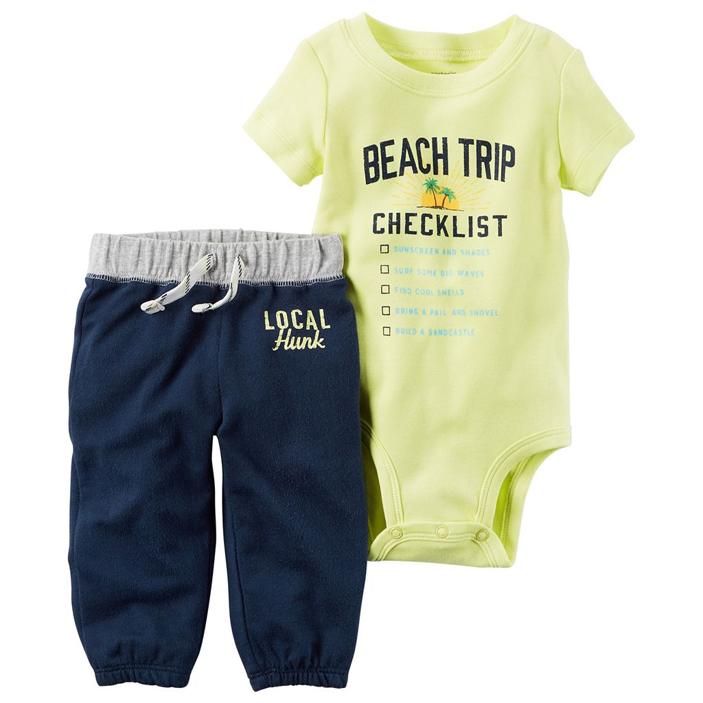 Baby Boy Carter's Graphic Bodysuit & French Terry Pants Set