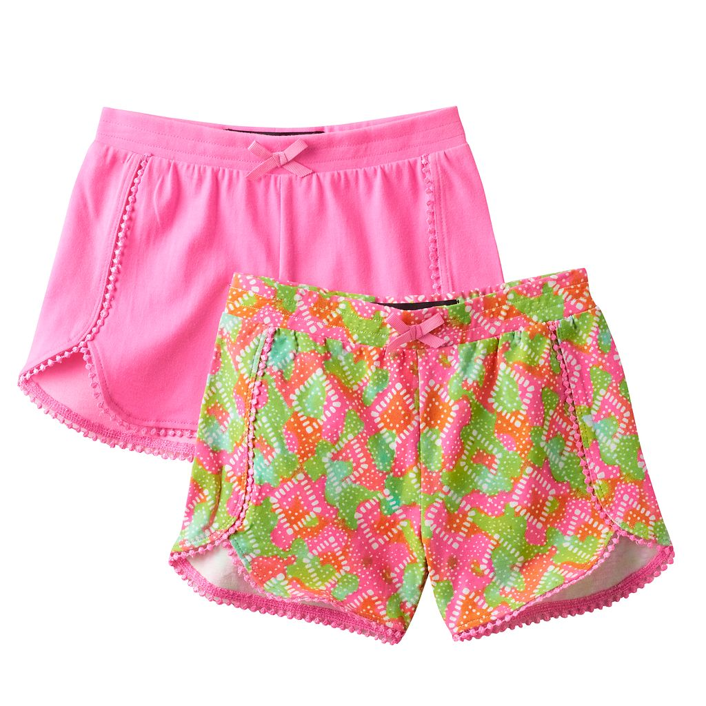Toddler Girl Freestyle Revolution 2-pk. Printed & Solid Shorts