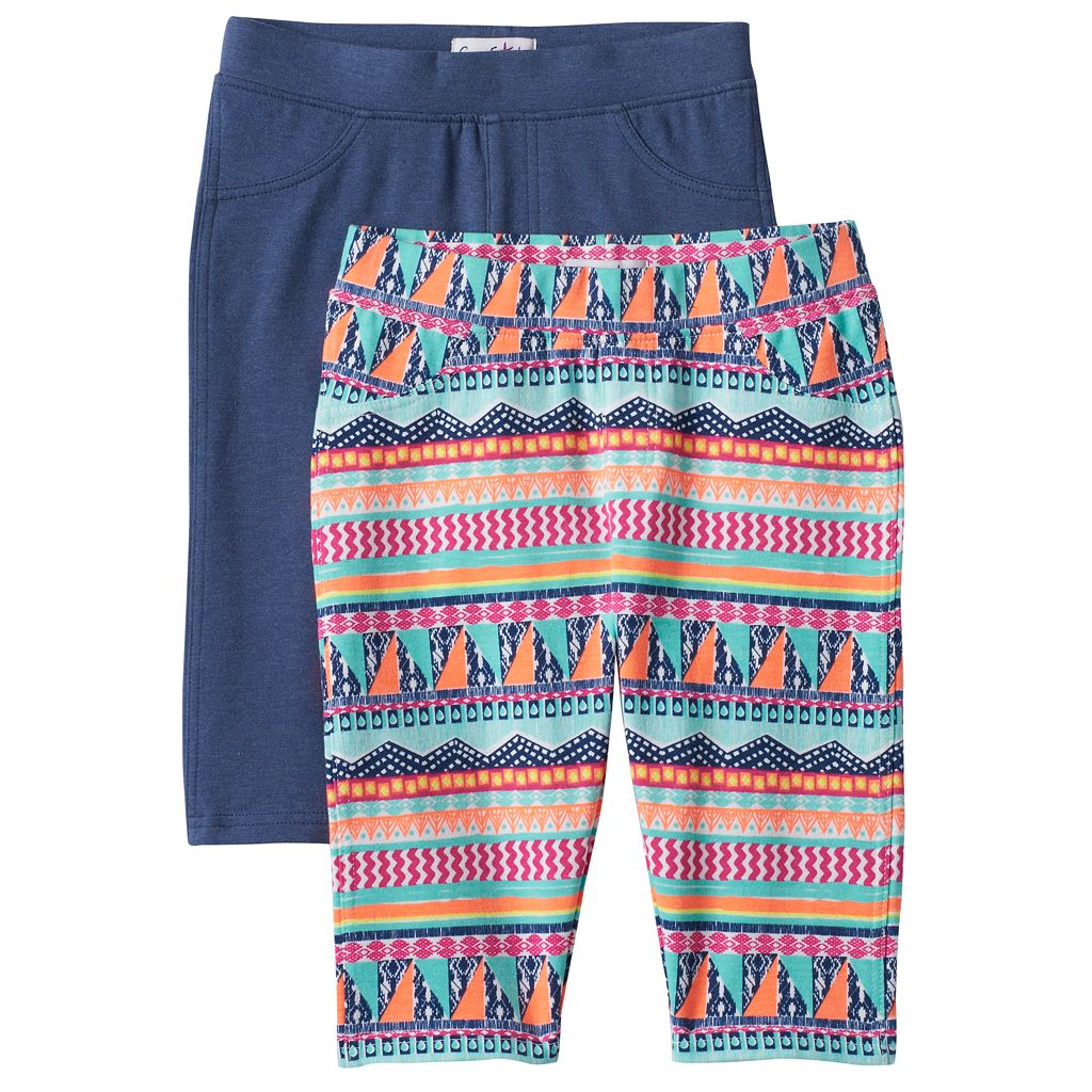 Girls 4-6x Freestyle Revolution Print & Solid Bermuda Shorts Set