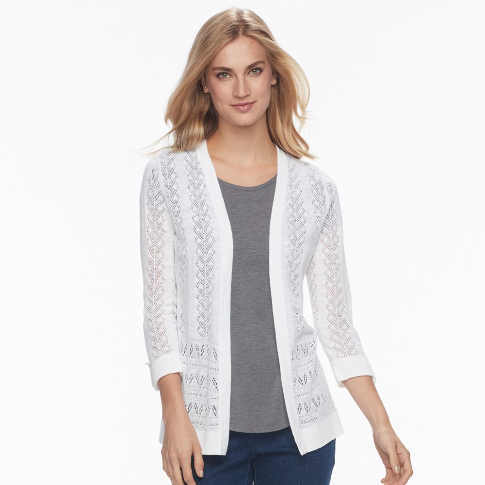Croft & Barrow® Pointelle Cardigan