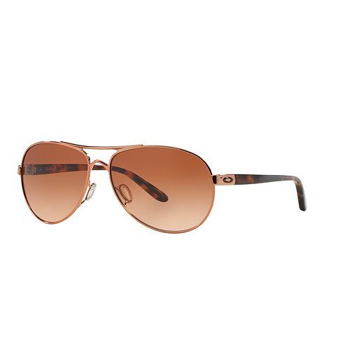 Oakley Feedback OO4079 59mm Aviator Gradient Sunglasses