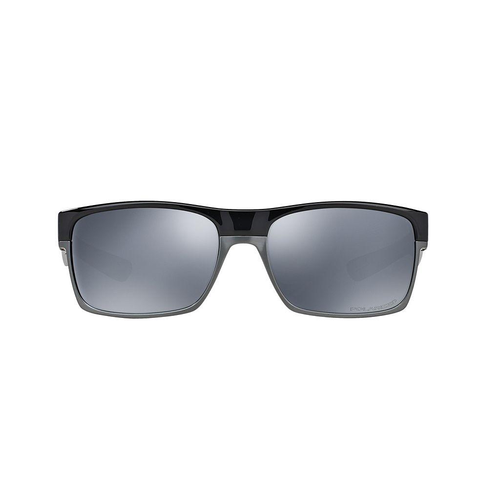 Oakley Twoface OO9189 60mm Rectangle Black Iridium Polarized Sunglasses