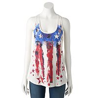 Women's Rock & Republic® Embellished Stars & Stripes Tank