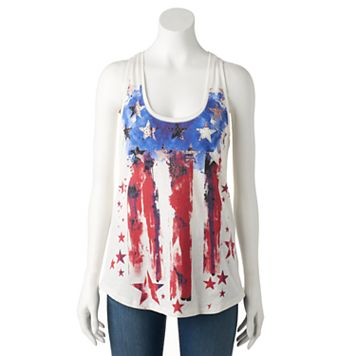 Women's Rock & Republic® Embellished Stars & Stripes Tank