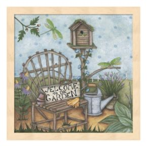 """""""Welcome To The Garden"""" 2 Framed Wall Art"""