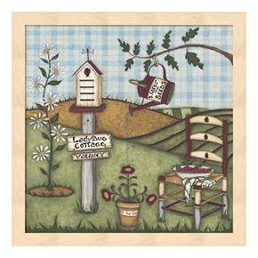 """Ladybug Cottage"" Framed Wall Art"