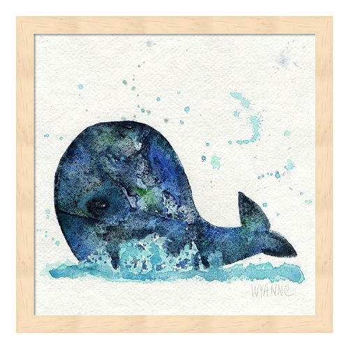 Little Whale Framed Wall Art