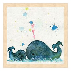 Love You Whales Framed Wall Art