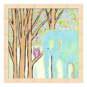 Quiet Time Elephant Framed Wall Art