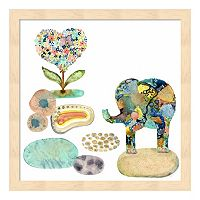 Stepping Stones Elephant Framed Wall Art