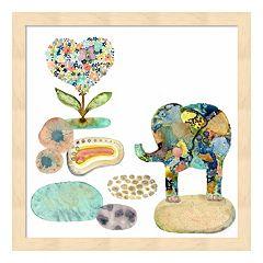Stepping Stones Elephant Framed Wall Art