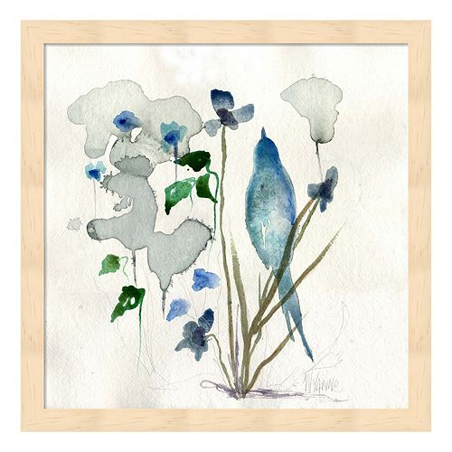 Bluebird Raindrops Framed Wall Art