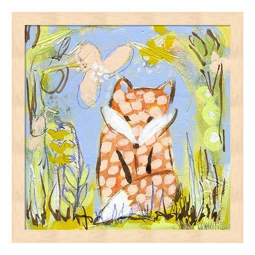 Fox In The Brambles Framed Wall Art