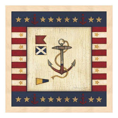 Patriotic Anchor Framed Wall Art