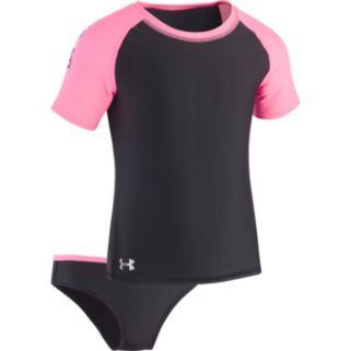 Girls 7-16 Under Armour Wordmark Rashguard & Bottoms Swimsuit Set