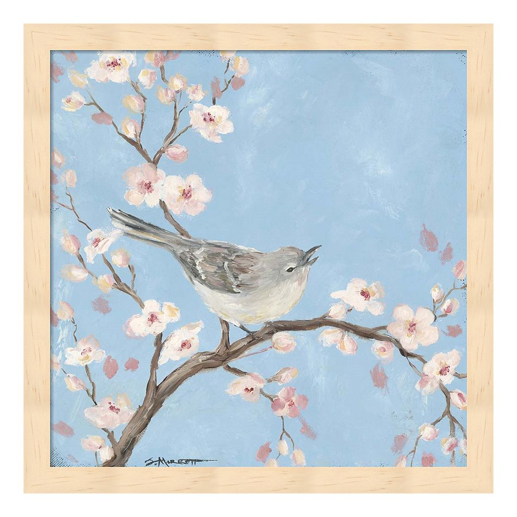 Blossom Bird I Framed Wall Art