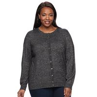 Plus Size Croft & Barrow® Marled Cardigan Sweater