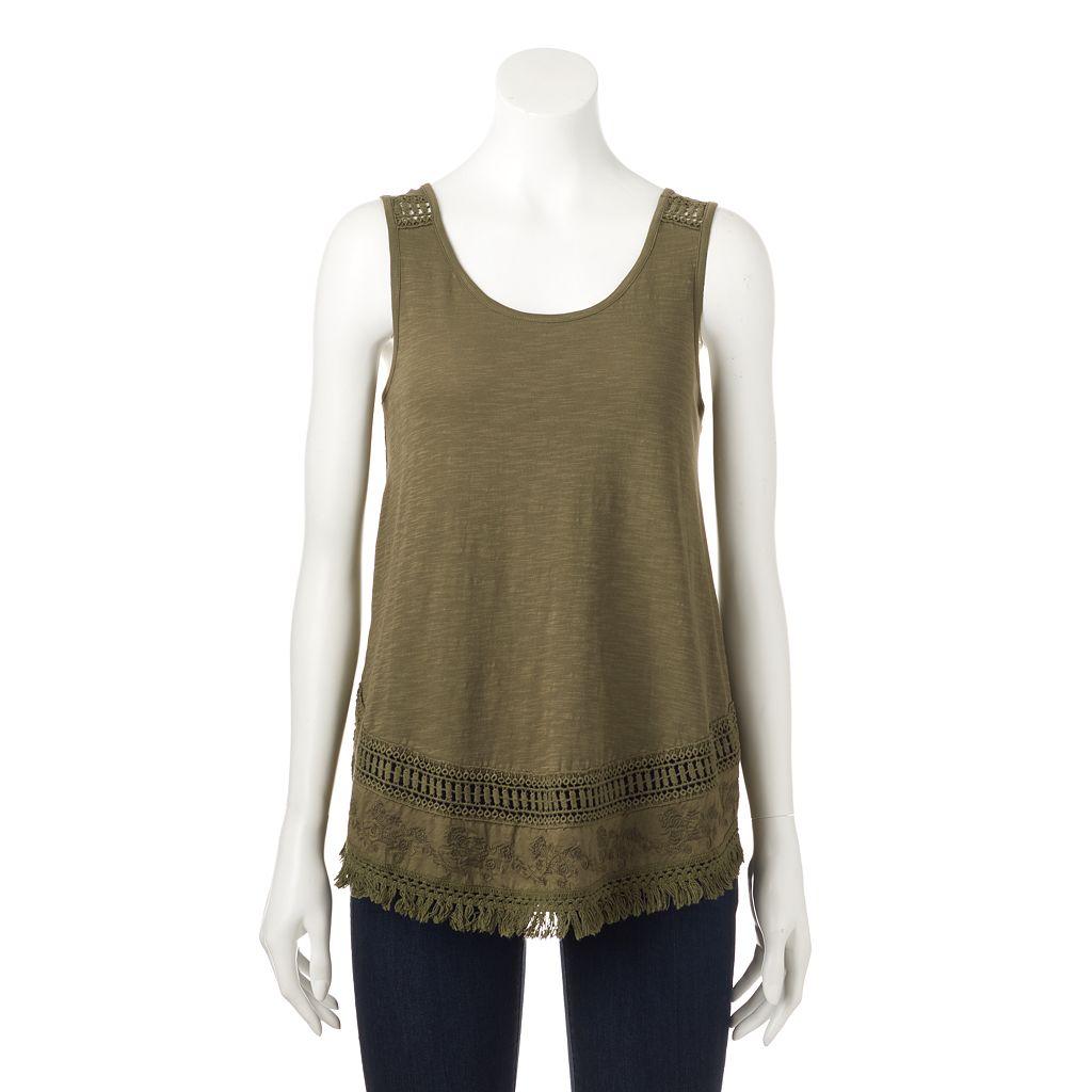 Women's SONOMA Goods for Life™ Embroidered Fringe Tank