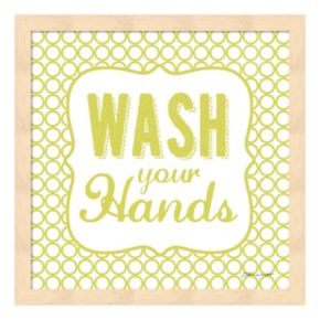 """Wash Your Hands"" Framed Wall Art"