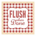 """Flush When Done"" Framed Wall Art"