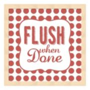 """Flush When Done"" Framed Wall Art"