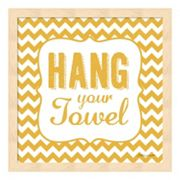 'Hang Your Towel' Framed Wall Art