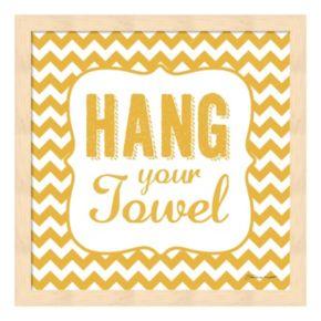 """Hang Your Towel"" Framed Wall Art"
