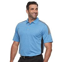 Big & Tall Men's Grand Slam MotionFlow 360 Colorblock Performance Golf Polo