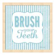 """Brush Your Teeth"" Framed Wall Art"