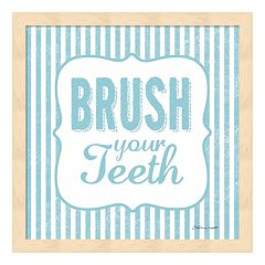 'Brush Your Teeth' Framed Wall Art