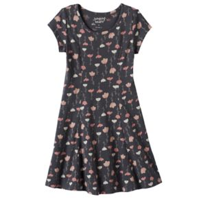 Girls 4-10 Jumping Beans® Princess Seam Heart Floral Skater Dress