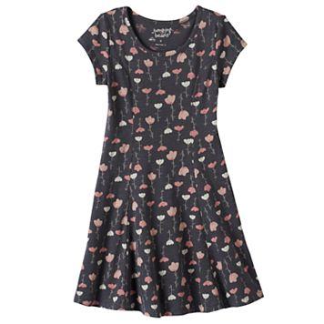 Girls 4-10 Jumping Beans® Princess Seam Heart Floral Skater Dress