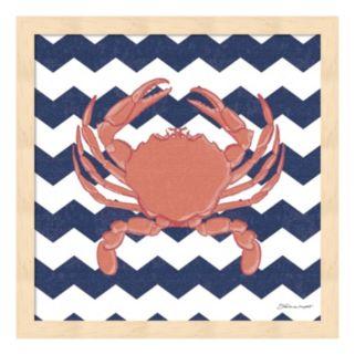 Crab Chevron Framed Wall Art