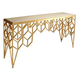Safavieh Couture Geometric Marble Top Console Table