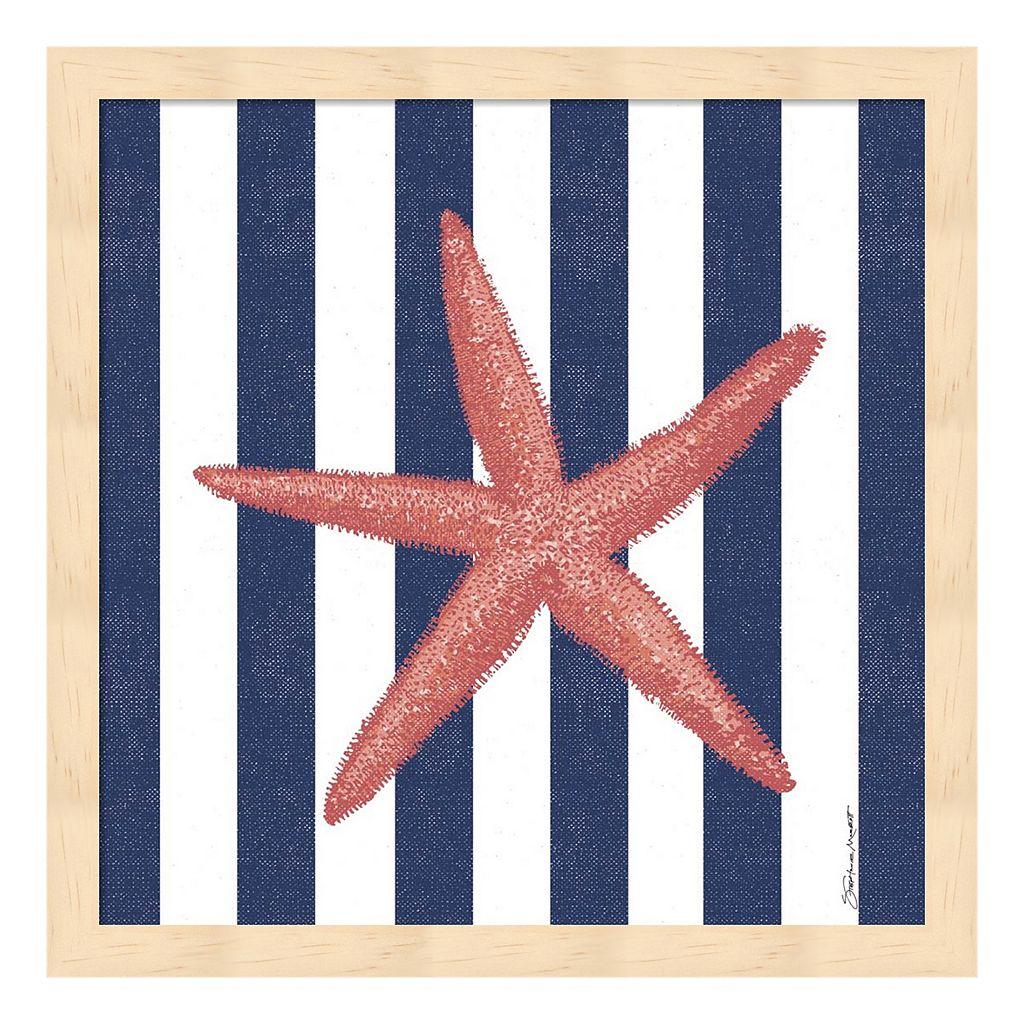 Starfish Stripe Framed Wall Art
