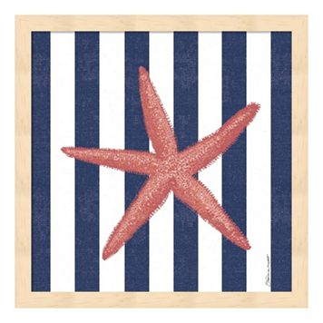 Starfish Stripe Framed Wall Art