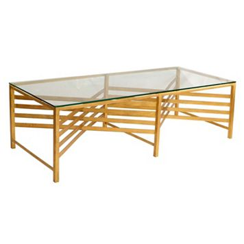 Safavieh Couture Lina Gold Finish Coffee Table
