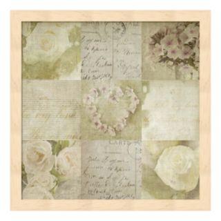 Vintage Floral Framed Wall Art