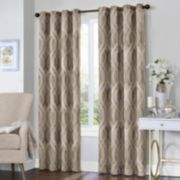 eclipse Thermalayer Blackout 1-Panel Caprese Window Curtain