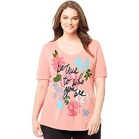 Plus Size Just My Size Graphic Scoopneck Tee