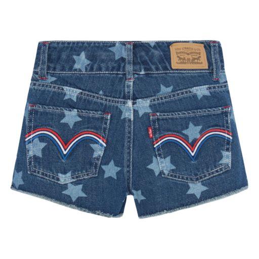 Girls 7-16 Levi's High Rise Novelty Shorty Jean Shorts
