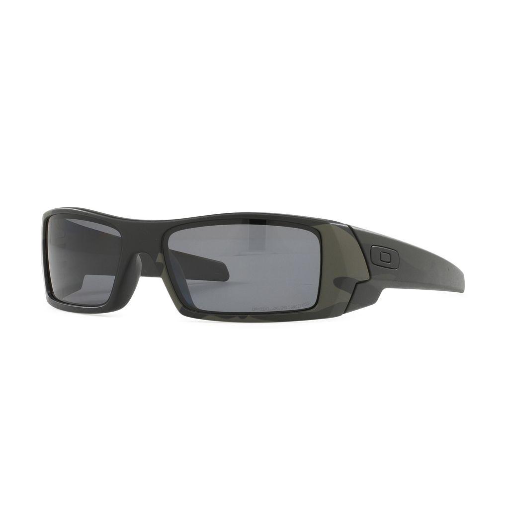 Oakley Gascan OO9014 60mm Rectangle Wrap Polarized Sunglasses