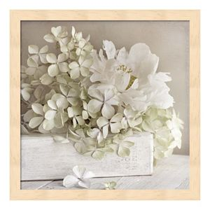 White Flower Book Framed Wall Art