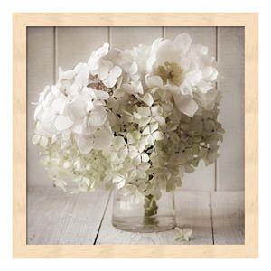 White Flower Vase Framed Wall Art
