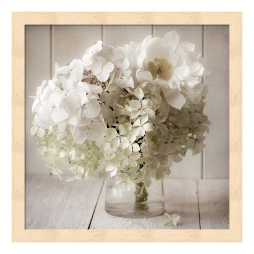 White Flower Vase Framed Wall Art